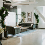 Justice HQ DTLA lounge space