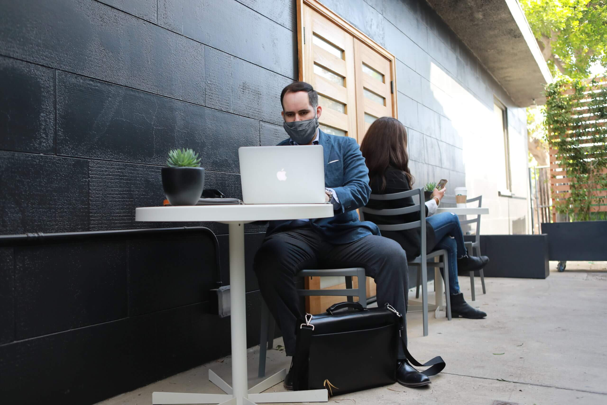 Justice HQ member working outside